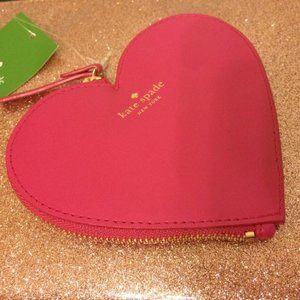 Kate Spade Pink Heart Coin Purse Wallet
